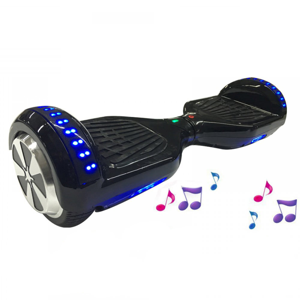 Hoverboard 6.5 inches black with mp3 bluetooth technology